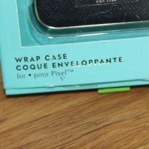 kate spade Accessories - NEW Kate Spade Black Wrap Case Pixel Gold